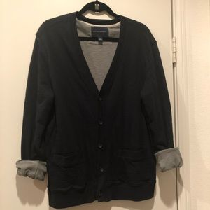 Banana Republic Black Grey V-neck  cardigan L